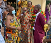 Togbe Afede XIV Commends ECG's General Manager In Volta Region