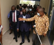 President inspects works on COVID-19 treatment Centre