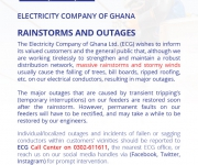 Rainstorms and Outages