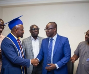 "Accra West region confers an honorary ""Associate Professorship"" on the Managing Director"